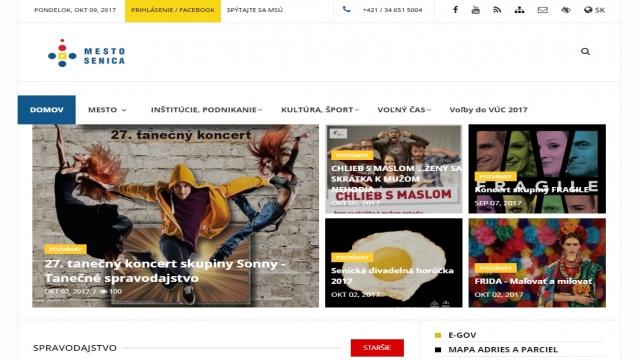 Senica má novú webovú stránku