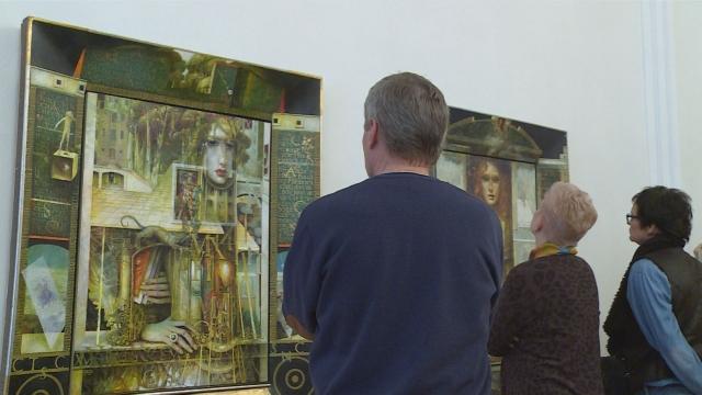 Známy výtvarník Nikolaj Feďkovič vystavuje v Senici