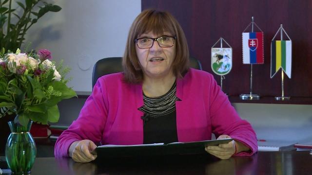 Novoročný príhovor primátorky Starej Turej Anny Halinárovej