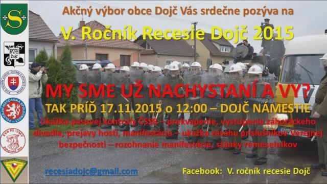 17. novembra bude opäť Recesia v Dojči