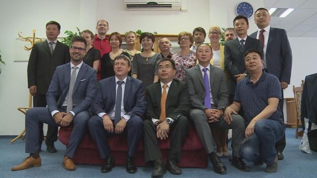 Delegácia z Číny v Senici