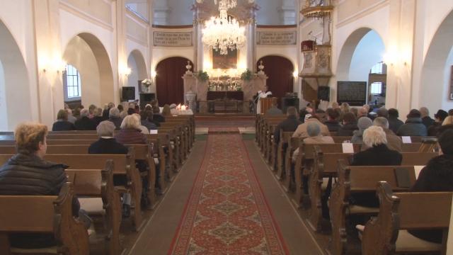 Bohoslužby v evanjelickom kostole v Myjave