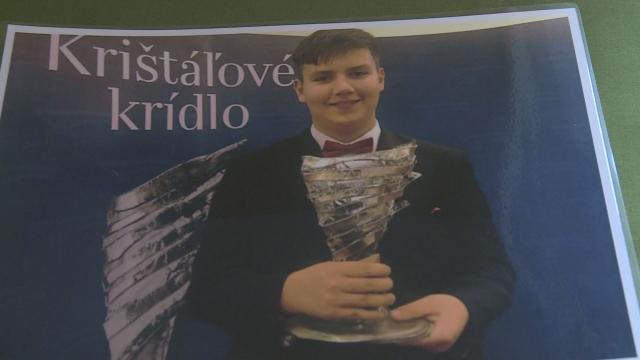 15-ročný filantrop s Krištáľovým krídlom